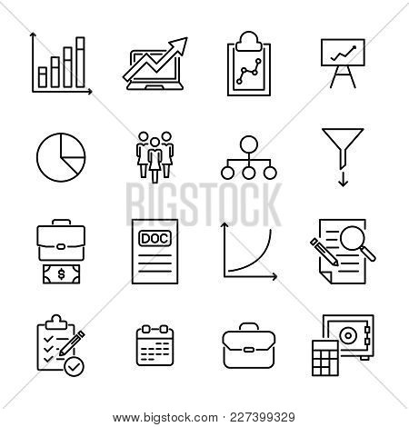Simple Collection Of Freelance Related Line Icons. Thin Line Vector Set Of Signs For Infographic, Lo