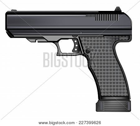 Gun Pistol Isolated On White Background Vector