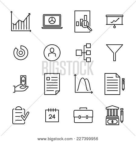 Modern Outline Style Freelance Icons Collection. Premium Quality Symbols And Sign Web Logo Collectio