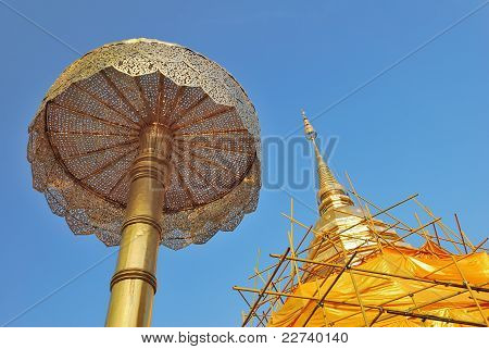 Closeup Of Golden Stupa