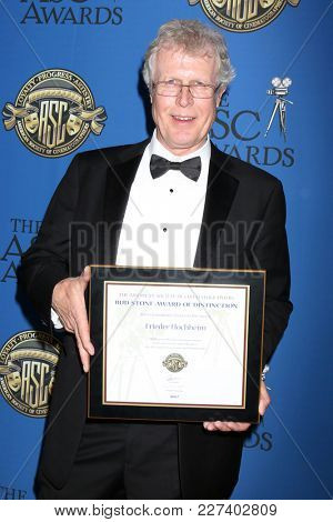 LOS ANGELES - FEB 17:  Frieder Hocheim at the 32nd American Society of Cinematographers Awards at Dolby Ballroom on February 17, 2018 in Los Angeles, CA