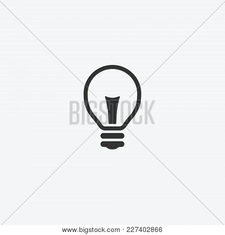 Light Bulb Isolated Flat Web Mobile Icon. Vector Graphic Illustration. Logotype
