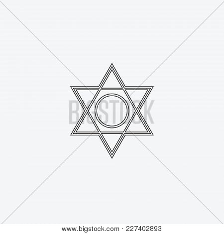 Star Isolated Flat Web Mobile Icon. Vector Abstract Geometric, Graphic Illustration. Logotype Logo