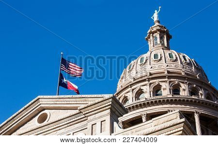 Texas State Capitol Dome In The City Of Austin