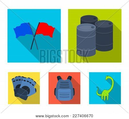 Protective Vest, Gloves And Other Equipment. Paintball Single Icon In Flat Style Vector Symbol Stock