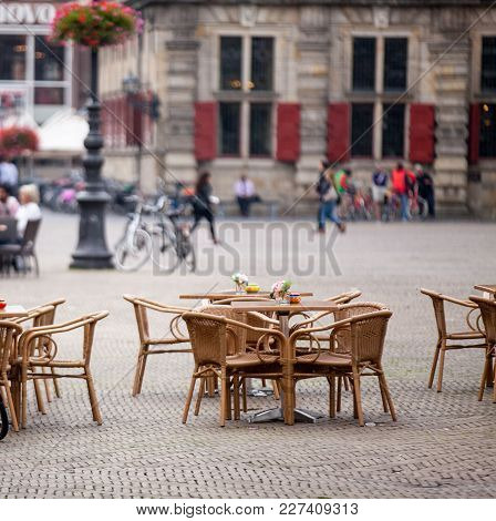 Chairs And Tables Of Restaurant