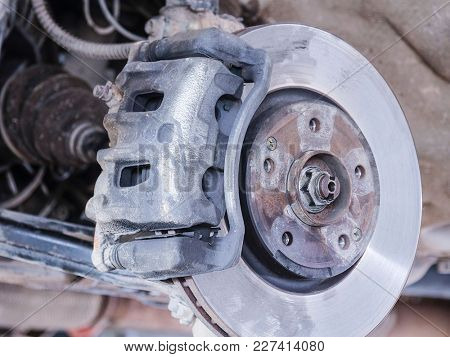 front suspension of a car