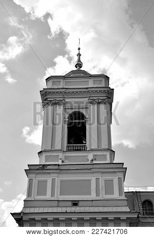 Trinity Cathedral Of Alexander Nevsky Lavra, Ancient Monastery In In Center Of St.petersburg, Russia