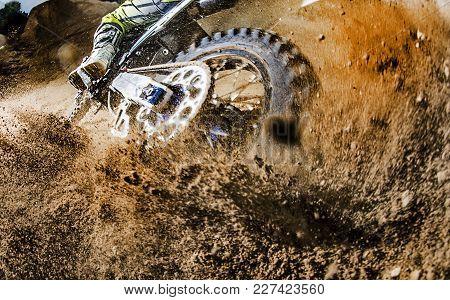 Motorcycle Wheel Skidding