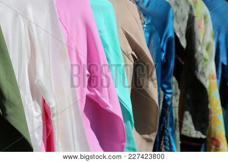 Pastel colored silks. Backgrounds / Textures