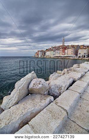 View On Rovinj - Beautiful City In Croatia