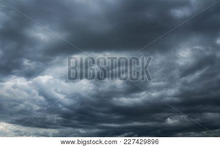 Heaven, Storm Overcast Sky. Beautiful Cloudscape Over Horizon, Sky.