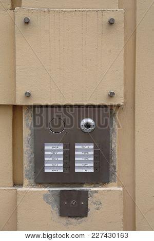 Camera Intercom Door Bell For Ten Flats