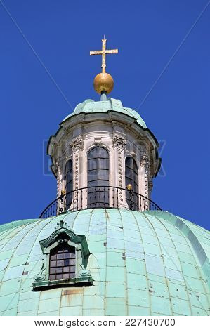 St Peter Church Dome Top In Vienna