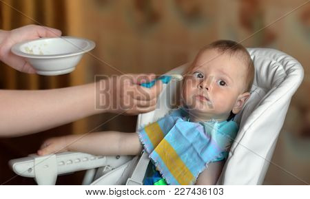 The Full Baby During Feeding