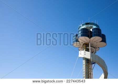 Sydney, Australia - May 6, 2014: Sydney Airport Air Traffic Control Tower.