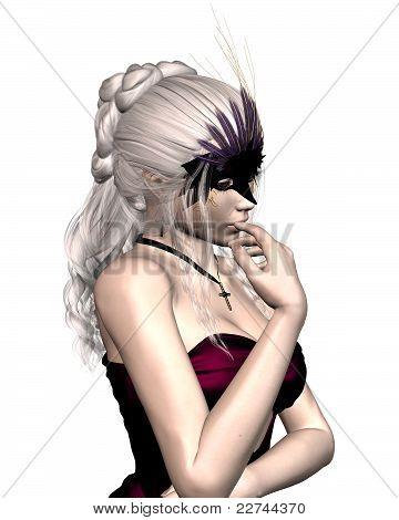 Frau im venezianischen Karneval Maske - 1