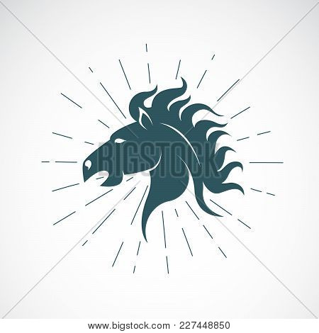 Vector Of Horse Head On White Background. Animal. Horse Symbol. Vector Illustration For Advertising