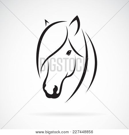 Vector Of Horse Head Design On White Background. Animal. Horse Symbol. Easy Editable Layered Vector