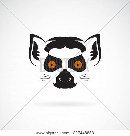 Vector Of Ring-tailed Lemur Head Design On White Background. Wild Animals. Easy Editable Layered Vec