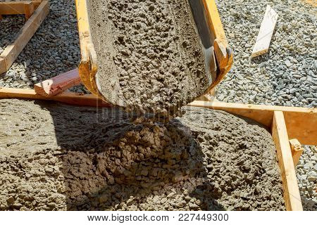 Builders Concrete Pavement Outside The House Approach To Building