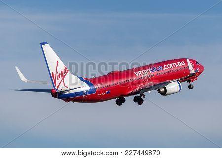Sydney, Australia - May 5, 2014: Virgin Blue Airlines (virgin Australia Airlines) Boeing 737 Taking