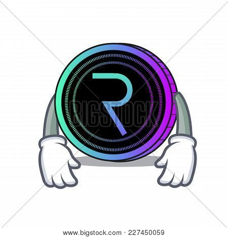 Tired Request Network Coin Mascot Cartoon Vector Illustration