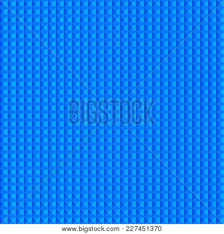 seamless blue piramid background. 3D illustration