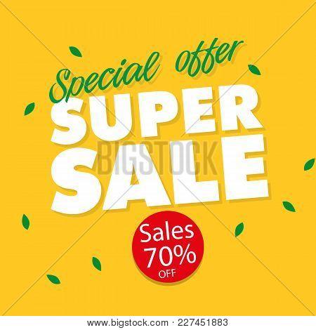Banner Special Offer Super Sale 70% Off Vector Image