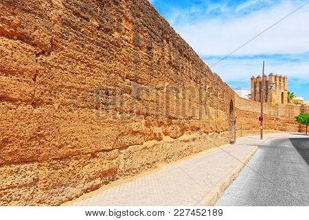 Wall Of Seville (muralla Almohade De Sevilla) Are A Series Of De