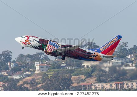 San Diego, California, Usa - April 30, 2013. Southwest Airlines Boeing 737-7h4 N918wn Known As
