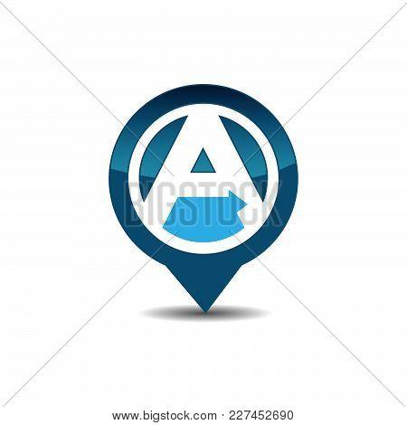 Letter A Gps Logo. Gps Vector. Gps Icon. Navigation Vector Logo. Navigation Vector Icon. Travel Logo