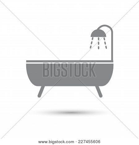 Icon Bath Gray On A White Background