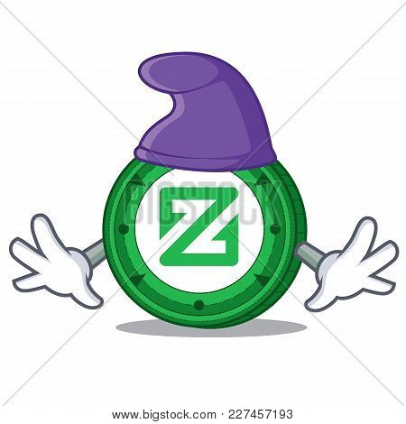 Elf Zcoin Character Cartoon Style Vector Illustration