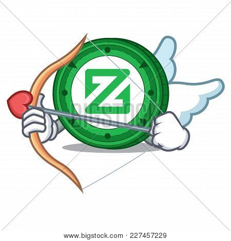 Cupid Zcoin Character Cartoon Style Vector Illustration