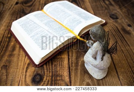 Angel And Bible