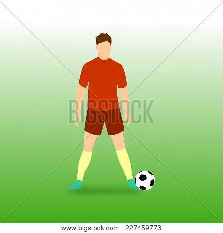 Free Kick Stance Football Player Vector Illustration Graphic Design