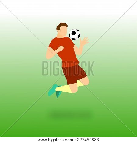 Chest Control Football Player Vector Illustration Graphic Design