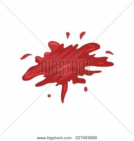 Blood Splatters Vector Illustration Isolated On A White Background.