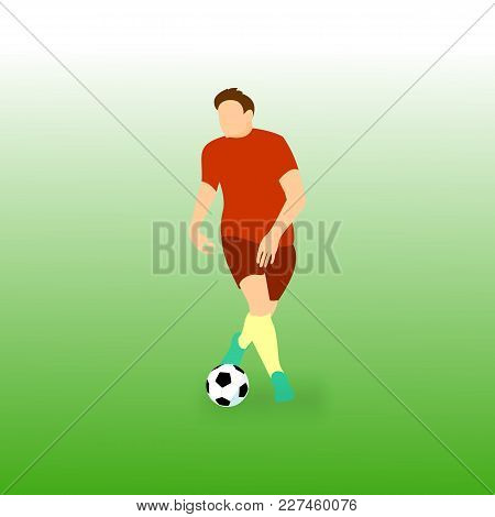 Controling Step Ball Football Soccer Player Vector Illustration Graphic Design