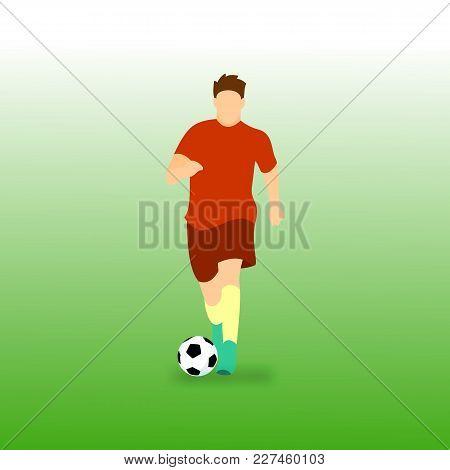 Dribbling Ball Football Soccer Player Vector Illustration Graphic Design