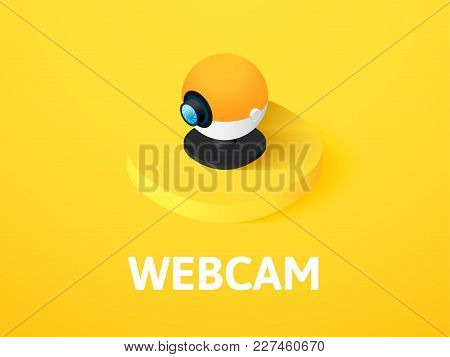 Webcam Icon, Vector Symbol In Flat Isometric Style Isolated On Color Background