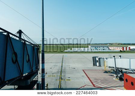 Jetway Or Finger In Runway Of Airport