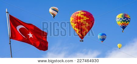 The Great Tourist Attraction Of Cappadocia - Balloon Flight. Cappadocia Is Known Around The World As