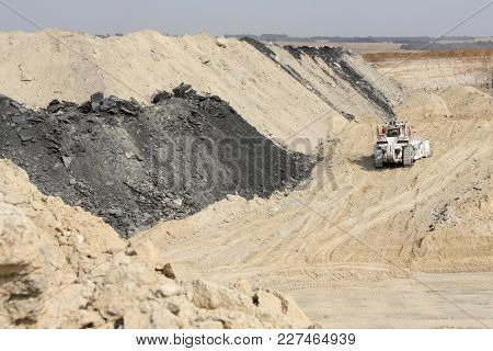 Heavy Machinery For Excavating At A Open Pit Coal Mine