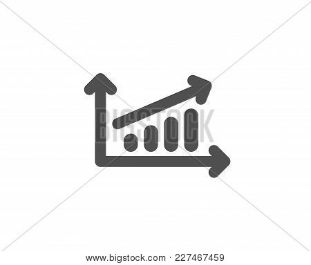 Chart Simple Icon. Report Graph Or Sales Growth Sign. Analysis And Statistics Data Symbol. Quality D