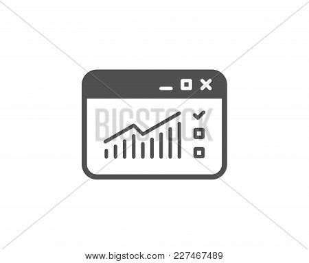 Website Traffic Simple Icon. Report Chart Or Sales Growth Sign. Analysis And Statistics Data Symbol.