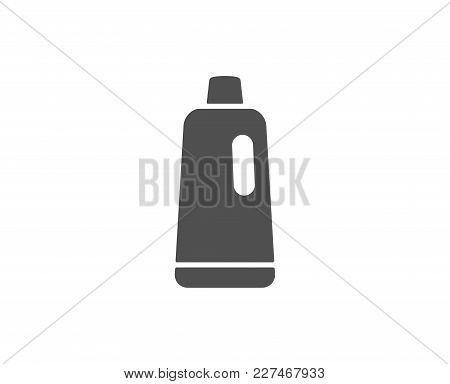 Cleaning Shampoo Simple Icon. Washing Liquid Or Cleanser Symbol. Housekeeping Equipment Sign. Qualit