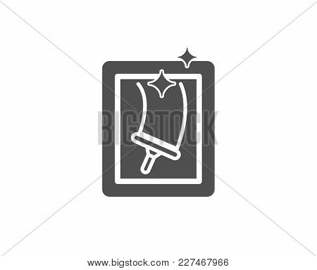 Window Cleaning Simple Icon. Washing Service Symbol. Housekeeping Equipment Sign. Quality Design Ele