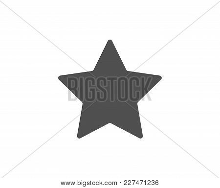 Star Simple Icon. Best Rank Sign. Bookmark Or Favorite Symbol. Quality Design Elements. Classic Styl